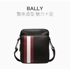 Bally巴利黑色男士挎包