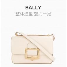 Bally巴利米白色女士挎包
