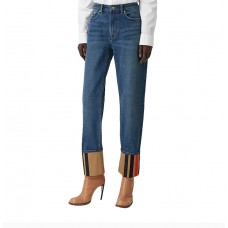 BURBERRY博柏利女士蓝色牛仔裤