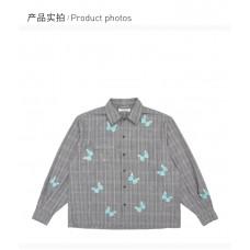 13DEMARZO女士蝴蝶格子外套