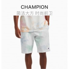 Champion男士白色扎染系带短裤