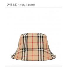 BURBERRY中性格纹帽子