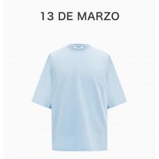 13DEMARZO女士蓝色立体兔兔图案T恤
