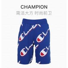 Champion男士蓝色印花图案短裤