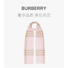 BURBERRY粉色女士围巾